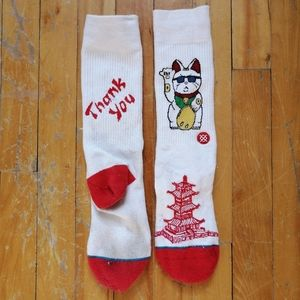 Chinese Takeout Socks With Cat